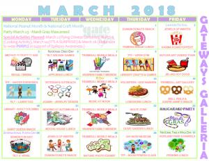 march galleria activity calendar GTBL