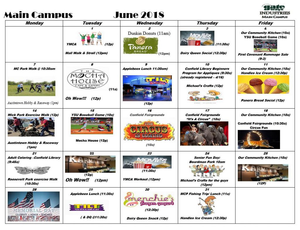 activity calendar main June 2018