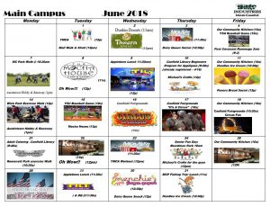 activity calendar main June 2018