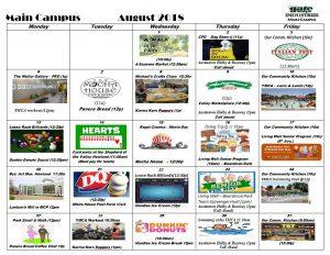 August Calendar Main Campus