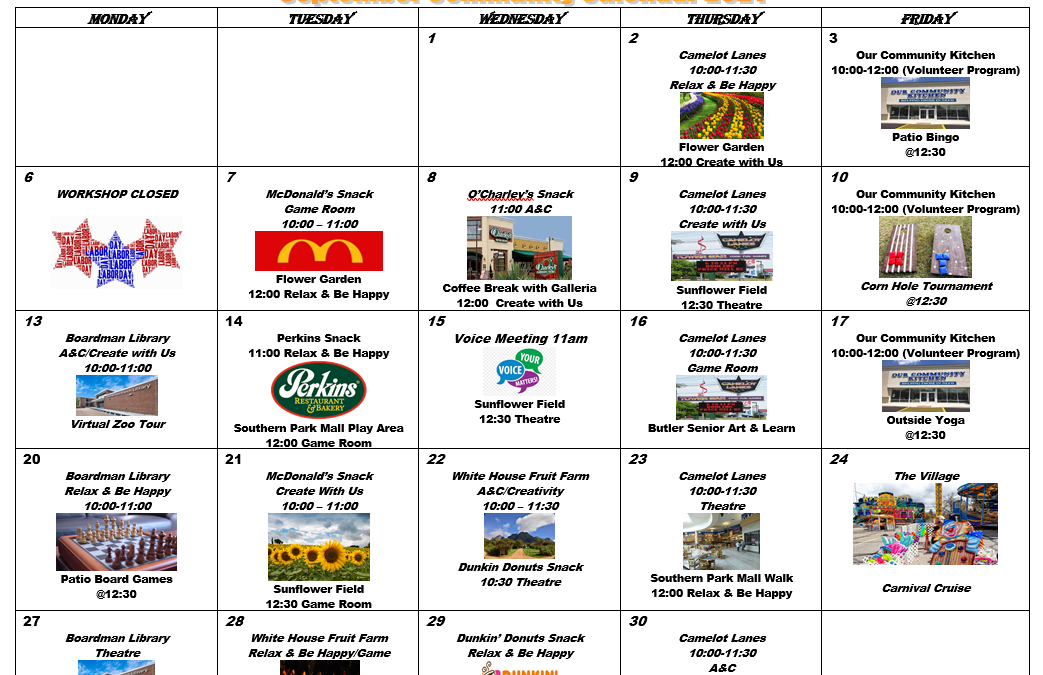 Village September 2021 Activity Calendar